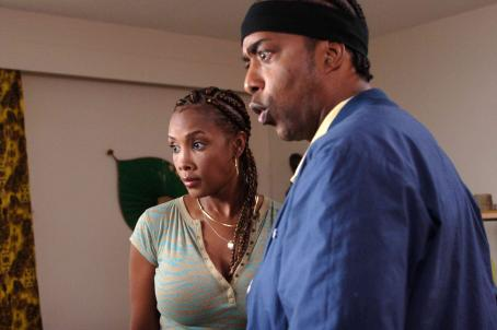Miguel A. Núñez Jr. Vivica A. Fox as Roxanne Jackson and  as Darnell Jackson in Harvey Glazer directed movies' Kickin' It Old Skool - 2007
