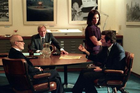 Zeljko Ivanek  as Ralph Graves, John Carter as Harold McGraw, Richard Gere as Clifford Irving, and Hope Davis as Andrea Tate in THE HOAX. Photo credit Ken Regan/ Courtesy of Miramax Films