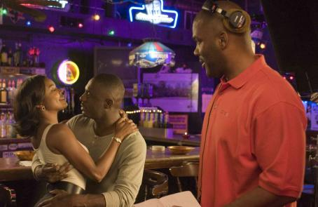 Tyler Perry Writer-Director  (far right) on the set of his new movie, DADDY'S LITTLE GIRLS, starring Gabrielle Union (left) and Idris Elba (center). Photo credit: Alfeo Dixon