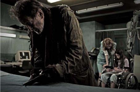 Dominique McElligott Ronald Pickup as Tobias,  as Emily and Skye Bennett as Sarah in Lionsgate Home Entertainment's Dark Floors.