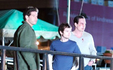 Jon Bernthal James (), Aaron (Elijah Wood) and George (Chris Klein) in the scene of Day Zero.