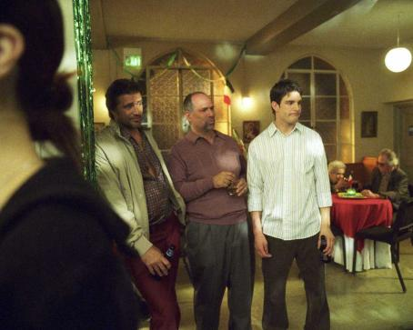 John Kapelos Guys in Club: John Enos III as Gianluca,  as Steve, Jay Jablonski as Jake in EVERYBODY WANTS TO BE ITALIAN, directed by Jason Todd Ipson. Courtesy of Roadside Attractions