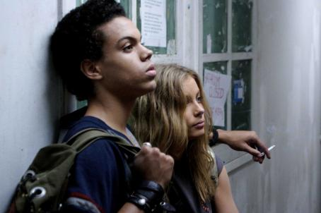 Gillian Jacobs Donnie (Evan Ross) and Leslie () in drama from Damian Harris' Gardens of the Night.
