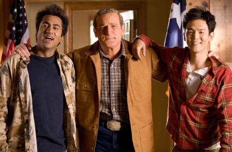 "John Cho Kal Penn (left) stars as ""Kumar,"" James Adomian (center) stars as ""George Bush"" and  (right) stars as ""Harold"" in New Line Cinema's release HAROLD AND KUMAR ESCAPE FROM GUANTANAMO BAY. Photo Credit: Jaimie"