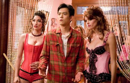 "John Cho  (center) stars as ""Harold"" in New Line Cinema's release HAROLD AND KUMAR ESCAPE FROM GUANTANAMO BAY. Photo Credit: Jaimie Trueblood/New Line Cinema"