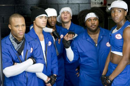 "Shawn Fernandez From L to R: Dwain Murphy as ""Bishop"", Brennan Gademans as ""Quake"", Daniel Morrison as ""Wayne"", Shawn Desman as ""Trey"", Tristan D. Lalla as "" 'Big Man' Manny"", and Rutina Wesley as &#"