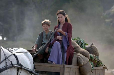 Colin Ford  as Zeph and Claire Forlani as Solana in Freestyle Releasing action adventure 'In the Name of the King: A Dungeon Siege Tale.'