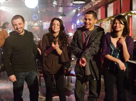 Vanessa Ferlito (Left to right.) Freddy Rodriguez, , Jay Hernandez  and Melonie Diaz star in Overture Films' NOTHING LIKE THE HOLIDAYS.