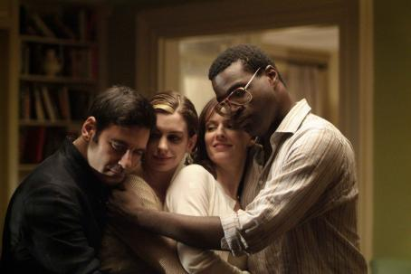 Mather Zickel Left to Right:  as Kieran, Anne Hathaway as Kym, Rosemarie DeWitt as Rachel, Tunde Adebimpe as Sidney. Photo by Bob Vergara © 2007 Sniscak Productions, INC. Courtesy Sony Pictures Classics. All Rights Reserved.