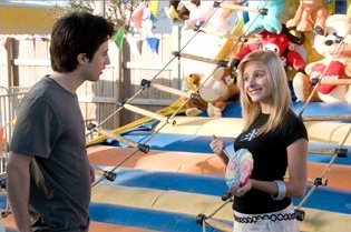 Josh Zuckerman  as Ian and Katrina Bowden as Ms. Tasty in comedy Sex Drive.
