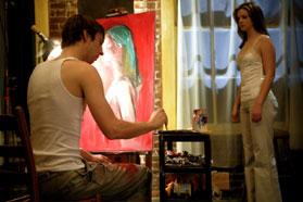 Joel David Moore Mason (Joel Moore) paint Amber (Amber Tamblyn) in Spiral.