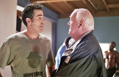 Adam Carolla  and Tom Quinn in The Hammer.