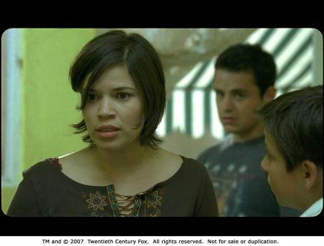 Adrian Alonso From left: America Ferrera, Adrián Alonso and Jesse Garcia in UNDER THE SAME MOONPhoto Credit: Courtesy of Fox Searchlight Pictures.