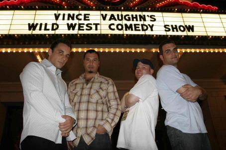 John Caparulo (From left to right) Sebastian Maniscalco, Ahmed Ahmed,  and Bret Ernst in Vince Vaughn's Wild West Comedy Show © 2007 Picturehouse