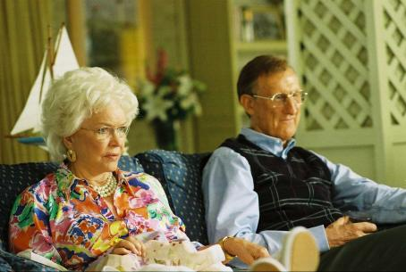 James Cromwell Barbara Bush (Ellen Burstyn) and George H. W. Bush () in W. Photo credit: Sidney Ray Baldwin