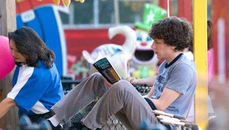 Jesse Eisenberg  as James Brennan in Miramax 'Adventureland.'