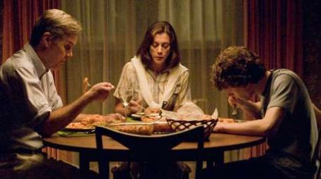Wendie Malick Jack Gilpin as Mr. Brennan,  as Mrs. Brennan and Jesse Eisenberg as James Brennan in Miramax 'Adventureland.'