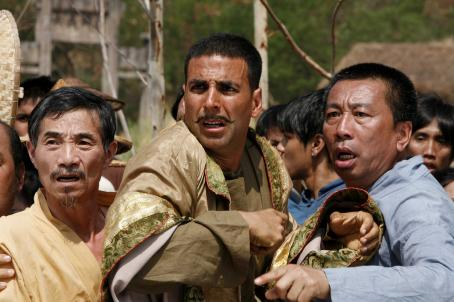 Akshay Kumar AKSHAY KUMAR (center) as Sidhu in the action comedy 'Chandni Chowk to China,' a Warner Bros. Pictures release. Photo by Sheena Sippy