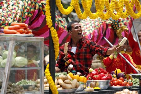 Akshay Kumar Sidhu (AKSHAY KUMAR), a street vendor, in the action comedy 'Chandni Chowk to China,' a Warner Bros. Pictures release. Photo by Sheena Sippy