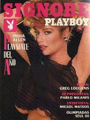 India Allen - Playboy Magazine Cover [Mexico] (June 1988)
