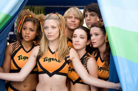 Nicholas D'Agosto (l to r) Hayley Marie Norman, Sarah Roemer, Eric Christian Olsen, Margo Harshman, Nicholas D'Agosto and Danneel Harris star in Screen Gems' comedy FIRED UP. Photo credit: Suzanne Tenner. © 2009 Screen Gems, Inc.  All rights reserved.
