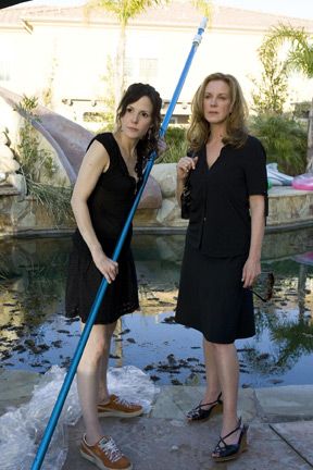 Elizabeth Perkins Mary-Louise Parker ('Nancy Botwin,' left) and  ('Celia Hodes,' right) star in Lionsgate Home Entertainment's Weeds: Season Three.