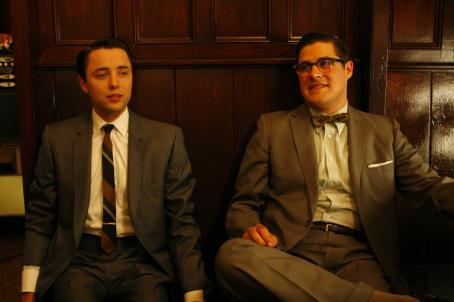 Mad Men Vincent Kartheiser ('Pete Campbell,' left) and Rich Sommer ('Harry Crane,' right) star in Lionsgate Home Entertainment's : Season One.