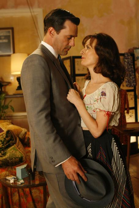 Mad Men John Hamm ('Don Draper,' left) and Rosemarie DeWitt ('Midge Daniels') star in Lionsgate Home Entertainment's : Season One.