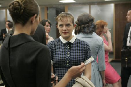 Elisabeth Moss  ('Peggy Olson') stars in Lionsgate Home Entertainment's Mad Men: Season One.