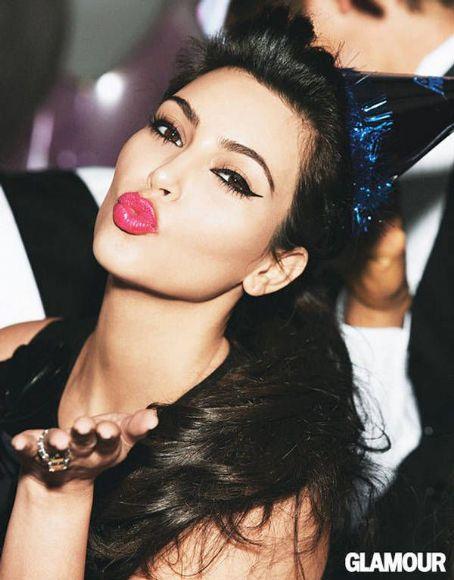Kim Kardashian - Kardashian Sisters Glamour Magazine January 2012