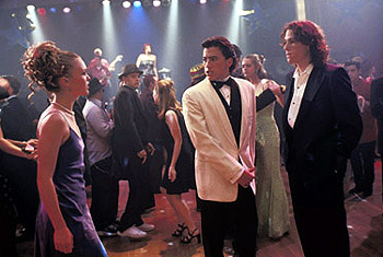 Joey Donner Andrew Keegan, Heath Ledger and Julia Stiles in 10 Things I Hate About You