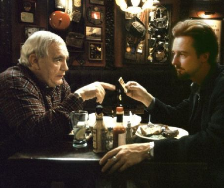 Brian Cox  and Edward Norton in Touchstone's 25th Hour - 2002