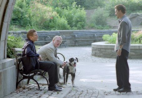 Philip Seymour Hoffman Barry Pepper,  and Edward Norton in Touchstone's 25th Hour - 2002
