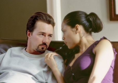 25th Hour Edward Norton and Rosario Dawson in Touchstone's  - 2002