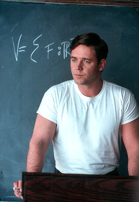 A Beautiful Mind Russell Crowe as MIT professor John Forbes Nash Jr. in Universal's  - 2001