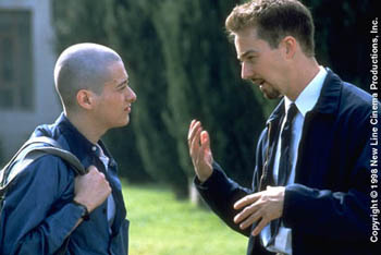 American History X Edward Furlong and Edward Norton in