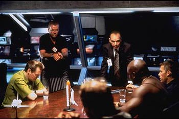 Steve Buscemi , Bruce Willis, Billy Bob Thornton, Michael Clarke Duncan and Ben Affleck in Touchstone's Armageddon - 1998