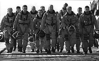 Grayson McCouch Owen Wilson, Anthony Guidera, Ben Affleck, Greg Collins, Steve Buscemi, Ken Campbell, Bruce Willis, Michael Clarke Duncan, Will Patton,  and Clark Brolly in Touchstone's Armageddon - 1998