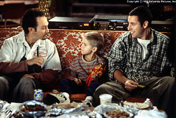 Rob Schneider , Cole or Dylan Sprouse and Adam Sandler in Big Daddy