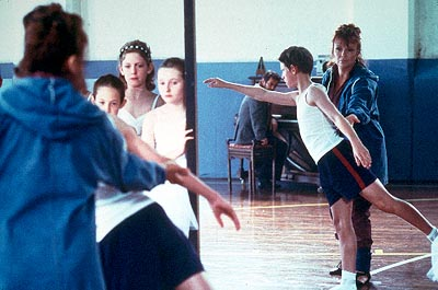 Billy Elliot Mrs. Wilkinson's (Julie Walters) zest for teaching is awakened by a new student,  (Jamie Bell), in Universal's  - 2000