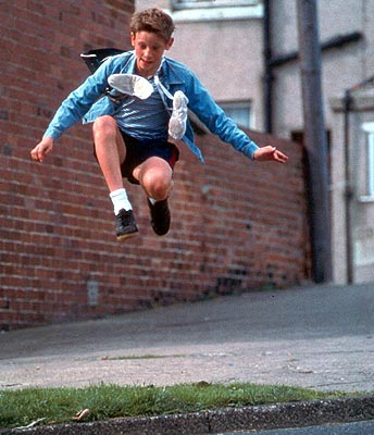 Billy Elliot  (Jamie Bell) uses dance as a means of escaping his oppressive surroundings in Universal's  - 2000