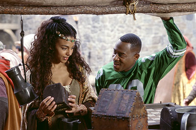 Marsha Thomason Martin Lawrence as Jamal, a fast-talking con-man who finds himself trying to get up close and personal with Victoria () in 20th Century Fox's Black Knight - 2001