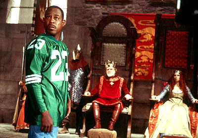 Black Knight Martin Lawrence as Jamal, a fast-talking con-man who finds himself about to make a strong impression on King Leo (Kevin Conway) and Princess Regina (Jeannette Weegar) in 20th Century Fox's  - 2001