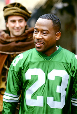 Martin Lawrence  as Jamal, a fast-talking con-man who finds himself in 14th century England in 20th Century Fox's Black Knight - 2001
