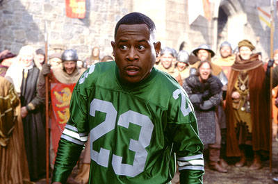 Black Knight Martin Lawrence as Jamal, a fast-talking con-man who finds himself in 14th century England in 20th Century Fox's  - 2001