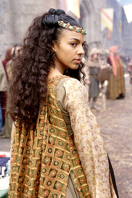 Marsha Thomason  as Victoria, a medieval feminist who falls for Jamal (Martin Lawrence), a fast-talking 21st century con-man who finds himself in 14th century England in 20th Century Fox's Black Knight - 2001