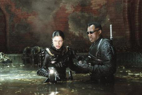 Wesley Snipes Leonor Varela as Nyssa and  as Blade in New Line's Blade II - 2002