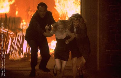 Angela Bettis Jimmy Smits,  and Kim Basinger in Paramount's Bless The Child - 2000
