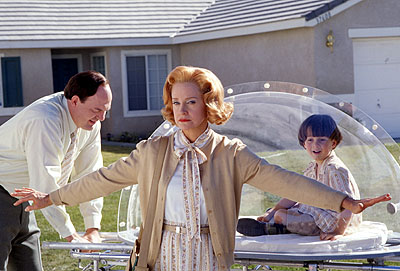 Swoosie Kurtz John Carroll Lynch and  as Jimmy's parents and Mitch Holleman as Jimmy at age 4 in Touchstone's Bubble Boy - 2001