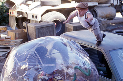 Verne Troyer Jimmy (Jake Gyllenhaal) encounters Dr. Phreak () in Touchstone's Bubble Boy - 2001